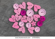 pink wooden buttons