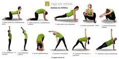 cvičenie na chrbticu Body Fitness, Health Fitness, Yoga For Weight Loss, Yoga Poses, Pilates, Healthy Lifestyle, Mantra, How To Plan, Workout