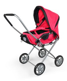 Fuchsia Bassinet Stroller for 18'' Doll by The New York Doll Collection #zulily #zulilyfinds