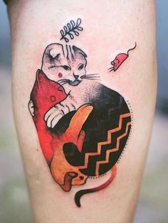 Joanna Swirska Dzo Lama cat tattoo