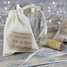 Personalised Wedding Favour Bag   Wedding Thank You Gifts For Guests, Parents, Bridesmaids, Groomsmen
