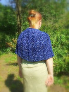 Blue Knitted Shawl She Stole Winter's Cloak of Blue  by Shalotte, £40.00