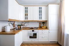 White kitchen sets: p . Kitchen Room Design, Modern Kitchen Design, Home Decor Kitchen, Interior Design Kitchen, Country Kitchen, Kitchen Furniture, New Kitchen, Home Kitchens, Kitchen Goods