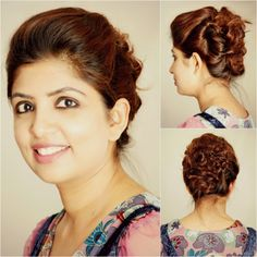 You might have blessed with natural curls or you might have straight hairs and curled your hairs for an occasion , either of the scenarios will work for our today's hairstyle , Quick Updo For Curly Hairs , which is quite chic but very simple to recreate.  http://www.spiceupboringlife.com/2013/11/diy-hairstyle-quick-updo-for-curly-hairs.html