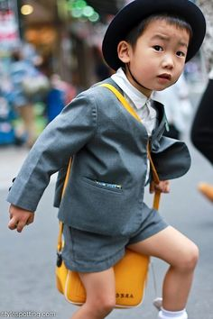 Schoolboy style, Tokyo, Japan