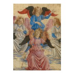 £5 - The Assumption of the Virgin Christmas Cards. A pack of five Christmas cards with envelopes, featuring a detail from the painting The Assumption of the Virgin by Francesco Botticini. The greeting inside reads: With best wishes for Christmas and the New Year. National Gallery Christmas cards generate valuable revenue for the Gallery, to ensure that future generations are able to enjoy the paintings as we do today. #AngelTrail