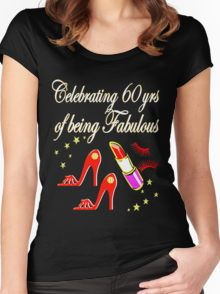 AWESOME 60TH BIRTHDAY FASHIONISTA DESIGN Women's Fitted Scoop T-Shirt Celebrate your fabulous 60 year old with our dazzling 60th birthday Tees and gifts. http://www.redbubble.com/people/jlporiginals/collections/371713-60th-birthday #60yearsold #Happy60thbirthday #60thbirthdaygift #60thbirthdayidea #happy60th
