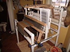 PVC Loom | Start Weaving | Loom Plans   Weave without spending a fortune!  Buy the book and build your own 4-Shaft PVC Loom. ...