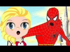 Elsa Spiderman Realy Sing Dady Finger Song Olaf Disney Animation Toys Video Kids Funny Toyo Surprise - YouTube