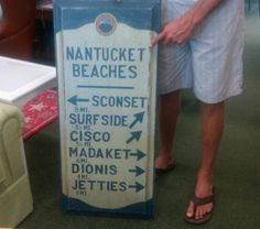 Nantucket beach sign