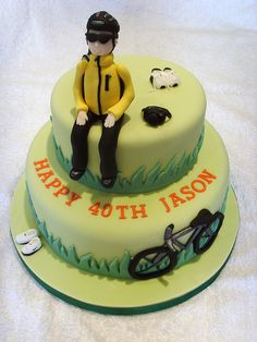 Cycling Birthday Cake by thecustomcakeshop, via Flickr