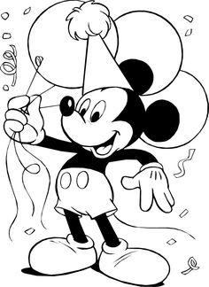 mickey-mouse-en-una-fiesta-con-globos-para colorear-disney