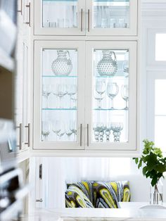 Glass-front Cabinetry