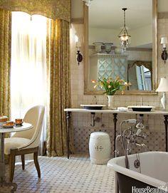 Master bath design by Barry Dixon | House Beautiful