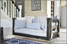 Crib Mattress Porch Swing | Do It Yourself Home Projects from Ana White