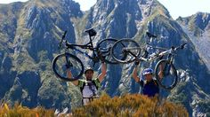 Motivated riders before descending the Old Ghost Road - South Island Mountain Bike