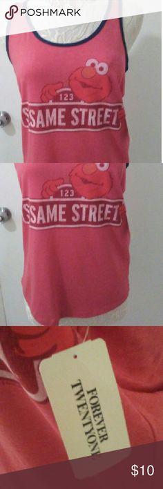 Sesame Street Elmo tank Red elmo tank Forever 21 Tops Tank Tops