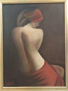 Oil On Canvas, Euro, Backless, Passion, Facebook, Artist, Red, Dresses, Vestidos