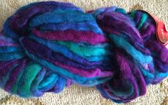 Colinette Point Five Wool Yarn, One hank, Florentina #48-Blues, Purples, Green and Merlot-Super Bulky Wool-Knitting, Crochet by Yarnsandmusings on Etsy