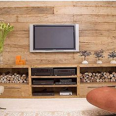 TV Stands with Media Storage by The Classy Home Pictures For Bathroom Walls, Living Room Pictures, Tv Furniture, Small Furniture, Living Room Wall Units, Home Renovation, Home And Living, Diy Home Decor, Family Room