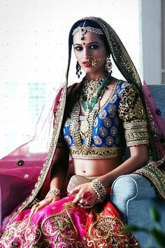 (Vasant Kunj, South Delhi) http://www.dlfEmporio.com/ Bride so gorgeous in http://www.TarunTahiliani.com/ Bridal Couture