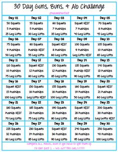 Join me for my Guns, Buns, & Abs 30 Day Challenge! It's going to be tough, but it will all be worth it in the end!!! Thanks to my #TIUSisters for the inspiration!