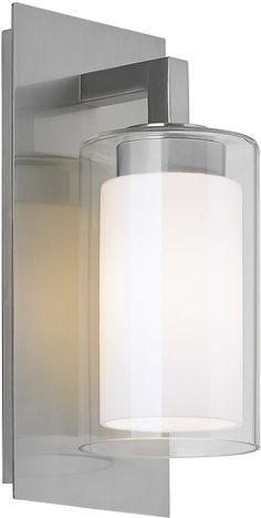 0-034679>Salinger 1-Light Outdoor Pendant Light Brushed Steel