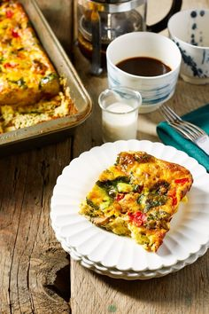Veggie Supreme Egg Bake Recipe. Do you have a family of picky eaters that you're trying to teach how to eat more vegetables? This easy, healthy vegetarian breakfast casserole, frittata, or crustless quiche is just the thing! Make ahead recipes like this are great to have up your sleeve for overnight guests with kids or just adults. You'll need frozen hashbrowns or diced potato, mushrooms, spinach, red pepper, cheddar cheese, eggs and half and half.
