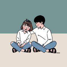 This is Sinana Illustrator based on fashion illustration. Cute Couple Drawings, Cute Couple Art, Cute Drawings, Cartoon Drawings, Cartoon Art, Black Cartoon, Cute Wallpaper Backgrounds, Cute Cartoon Wallpapers, Couple Illustration
