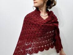 NUOVO Blu in pizzo crochet Poncho Scialle Stola regalo NIGHT PARTY sciarpe vintage