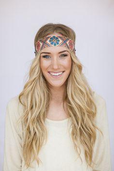 Boho Headband Indian Embroidered Ribbon Bohemian by ThreeBirdNest, $16.99