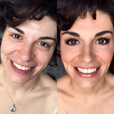 Before/ after . #makeup #mariapagonaki #makeupartist , photo captured with my #iphone6