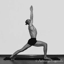 Yoga For Men: 10 Yoga Poses For Strength And Flexibility. Warrior I : Stretches shoulders and hips; strengthens upper and lower body. http://www.yogapaws.com/yoga-blogs-yoga-paws/bid/32706/Yoga-For-Men-10-Yoga-Poses-For-Strength-And-Flexibility