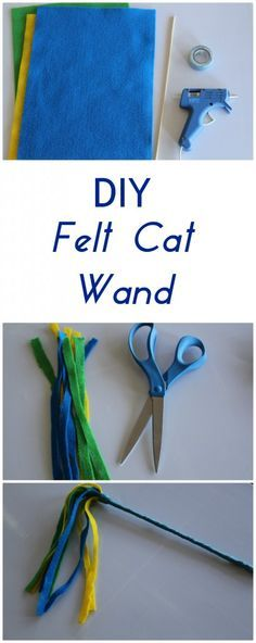 Create an Easy DIY Felt Cat Wand! Your feline will love playing with this homemade toy. This simple craft will keep your cat playing for a long time.