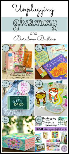 Boredom Busters Unplugging Giveaway