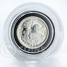 United Kingdom 20 pence Britannia Chariot silver proof coin 2009