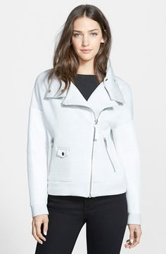 Mackage+Mesh+Sleeve+Moto+Jacket+available+at+#Nordstrom