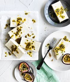 This gluten-free coconut slice has a macadamia and cashew crust, matched with a passionfruit for a tasty and crunchy tropical dessert.