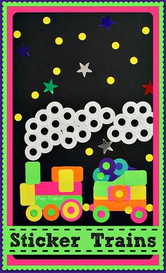 Sticker Train Craft for Kids @ Play Trains! http://play-trains.com/ Perfect to go along with Freight Train by Donald Crews
