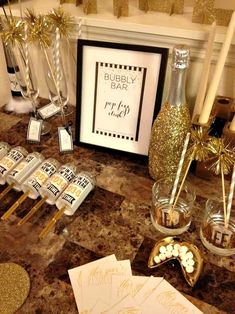 A bubbly bar could be a cool addition to the wedding festivities! #gatsby #gatsbywedding #bubblybar