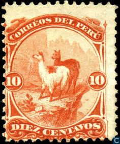 Stamps - Peru - Llamas