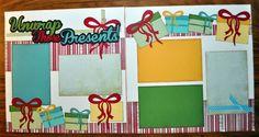 Unwrap Those Presents 2 Page 12x12 Scrapbook Layout | eBay