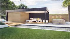 ECO Tuinarchitectengroep   3D projecten   Loungetuin met vijver Antwerpen