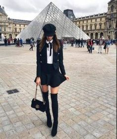 winter outfits preppy The Prettiest Winter Outfit - winteroutfits Paris Outfits, Winter Fashion Outfits, Fall Winter Outfits, Look Fashion, Womens Fashion, Paris Winter Fashion, Fashion Styles, Fashion Clothes, Winter Dress Outfits