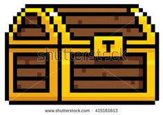 Vector Illustration of Chest cartoon - Pixel design