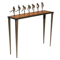Ltd Edition Cast Bronze Console Table by Nick Davis | From a unique collection of antique and modern console tables at http://www.1stdibs.com/furniture/tables/console-tables/