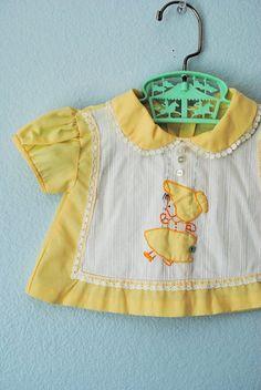 vintage newborn baby girl blouse