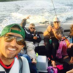 Jake Owen and friends - just another day on the water! #reallife #jakeowen #lxpolarizedoptics #dakota