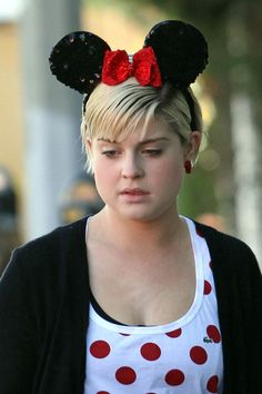 "Kelly Osbourne sports Minnie Mouse ears as she and her ""Dancing with the Stars"" partner Louis Van Amstel head into a pilates session. Kelly Osbourne, Mouse Ears, Dancing With The Stars, People, People Illustration, Folk"