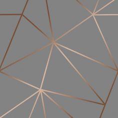 I Love Wallpaper Zara Shimmer Metallic Wallpaper Charcoal Copper - Wallpaper from I Love Wallpaper UK Rose Gold Wallpaper, Copper Wallpaper, Wallpaper Uk, Kitchen Wallpaper, Self Adhesive Wallpaper, Brick Wallpaper, Bedroom Wall Designs, Living Room Designs, Geometric Wallpaper Living Room